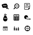 black tax icon set vector image vector image
