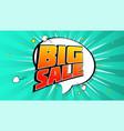 big sale pop art splash background explosion in vector image