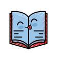 book cartoon smiley vector image