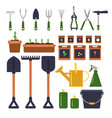 gardening tools isolate on white background vector image