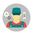 Mechanic avatar icon flat vector image