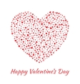 Red Heart for Valentines Day card Background vector image