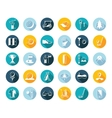 Set Flat Square Icons vector image