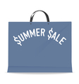 Shopping bag for summer sale vector image