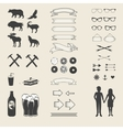 set of elements for design hand draw vector image