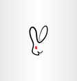 rabbit symbol icon vector image