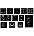 set of different switches and sockets vector image vector image
