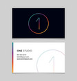 business-card-number-1 vector image