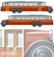 vintage bus liner 30-s vector image vector image