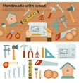 Tools for Handmade with Wood Hobby Concept vector image