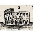 Coliseum doodle vector image