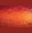 abstract triangle background in golden red tones vector image