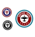 Aviation symbol with airplane vector image