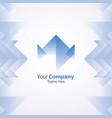 blue company logo vector image