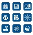 digital internet icons vector image