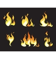 Explosion animation frames vector image