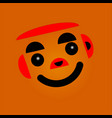 face with black eyes vector image