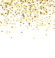 golden stars falling from the sky on white vector image