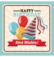 Happy Birthday design Retro vector image