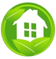 Home icon with leaf vector image