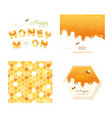 honeycomb seamless pattern background melted vector image