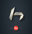 Letter H silver font Elegant Template for company vector image
