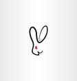 rabbit symbol icon vector image
