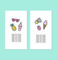 set of two card templates modern pins vector image