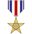 Silver Star Medal vector image