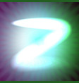 single light blue neon letter z of vector image