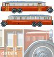 vintage bus liner 30-s vector image