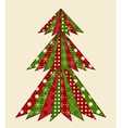 Christmas tree for scrapbooking 1 vector image