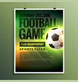 football game flyer design card invitation vector image