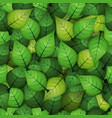 seamless spring leaves background vector image vector image