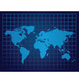 world map grid vector image