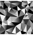 Geometric rumpled triangular seamless pattern vector image