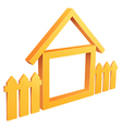 wooden home with fence vector image