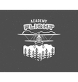 Vintage airplane emblem Biplane label Retro vector image