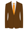 Brown businessman suit vector image