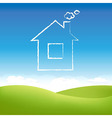 Abstract House In Sky vector image