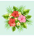 Bouquet of tropical flowers vector image