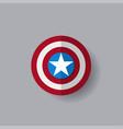 shield with a star superhero shield vector image