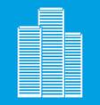 skyscrapers in singapore icon white vector image