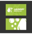 Green Laundry Service Business card vector image