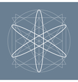 Sacred geometry symbol or element vector image