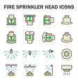 Fire sprinkler icon vector image