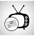 concept news tv retro icon graphic vector image