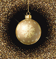 christmas bauble background 0809 vector image vector image
