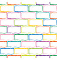 stylized multicolor brick wall pattern vector image