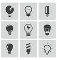 black bulbs icons set vector image vector image